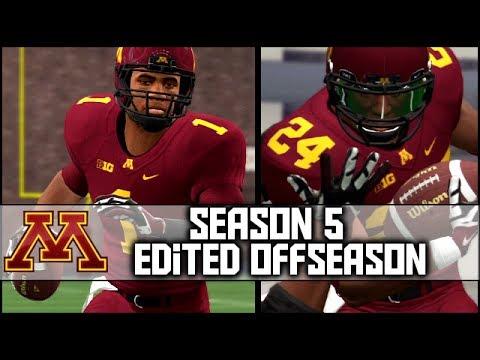 NCAA Football 14 Dynasty: Season 5 EDITED Offseason (FULL Stream Recap)