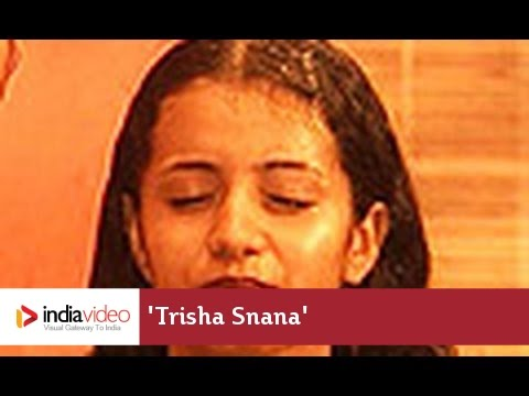 Trisha Snana Herbal Bath Ayurveda Kerala India video