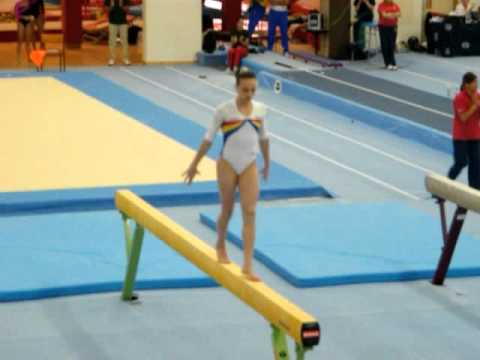 Defending World Beam Champ Ana Porgras 2011 Beam Routine