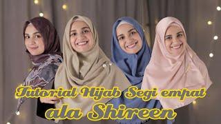 Tutorial hijab segi empat menutup dada ala Shireen
