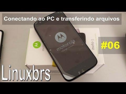 Moto G Motorola XT1033 - Conectando ao PC e transferencia de arquivos - PT-BR - Brasil