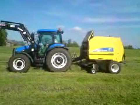 Sianokosy 2010!!New Holland BR 6090