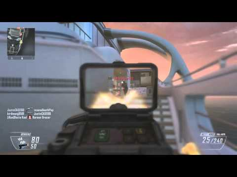 Black Ops 2: Gun Game: Hijacked... Guy Loses it in Chat