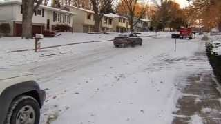 Arctic blast brings snow, cold to U S