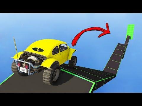 Опасная платформа с диким наклоном! Гонки трансформеры в GTA 5 Online   MYE