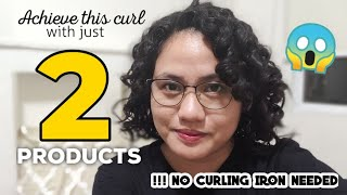 CURLY GIRL METHOD USING 2 PRODUCTS ONLY