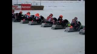 Snowmobile Racing in Beausejour