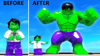 Transformation of Hulk into a GIANT HULK