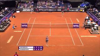 Lucie Safarova vs Maria Sharapova April 2014Porsche Tennis Grand Prix 2014