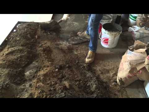 Floor Tile Installation Process - sand and cement foundation (左官)