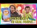 POTATO CHIP VS REAL FOOD CHALLENGE | We Are The Davises