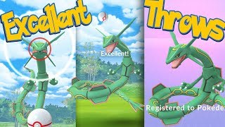 RAYQUAZA Excellent Throws EVERY TIME! How To Hit More Excellent Throws | Pokemon Go