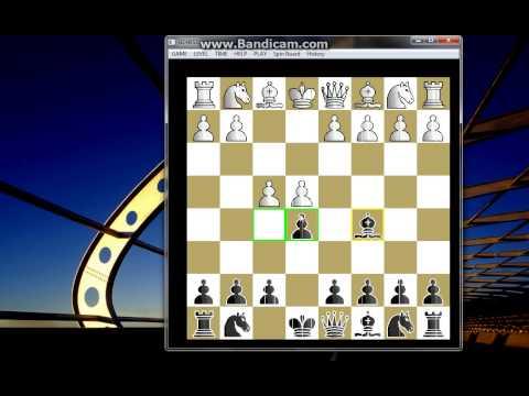 MAT u četiri poteza -  TCHINENOFF vs MAILLARD - odbiveni KRALJEV gambit  # 158 sah i mat