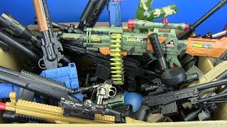 Big Box of Toys - Box Full of Guns Toys ! Military & Police Gun Toy - Toys for Kids