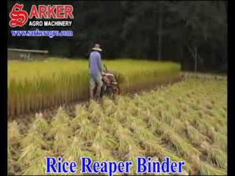 Rice Reaper Binder Machine