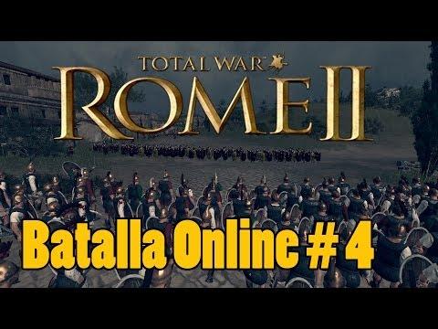 Rome II TW Batallas Online 3vs3 | Espartaco ! | Español