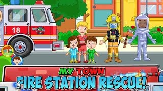 My Town : Fire Station Rescue - iPad app demo for kids - Ellie