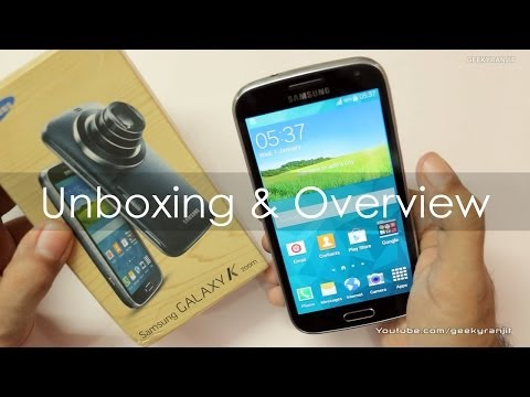 Samsung Galaxy K Zoom 20.7 MP Camera / Android Phone Unboxing & Overview