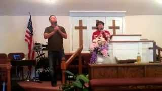 Danny Pilkey & Brandon  Bagley singing the Anchors Hold at Redemption Baptist Church Ackworth, GA