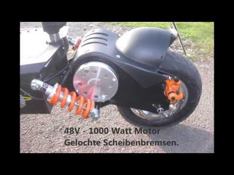 Mach 1 E-Scooter 1000W  48v über 47Km/h Quick Review