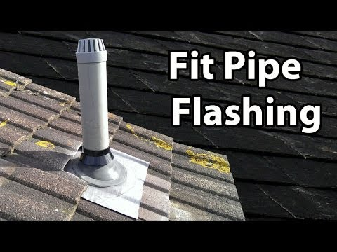 How To Install A Soil Pipe Flashing Fit A Lead Slate