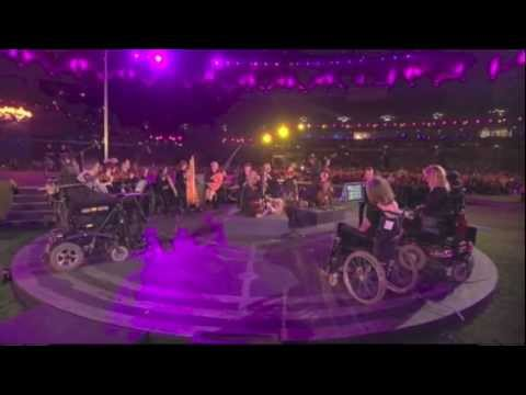 Coldplay 'Strawberry Swing'supported by The British Paraorchestra Paralympics closing ceremony 2012