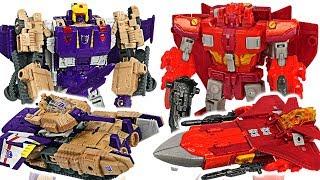 Transformers Titans Return Sentinel Prime, Optimus Prime VS Blitzwing, Megatron! #DuDuPopTOY