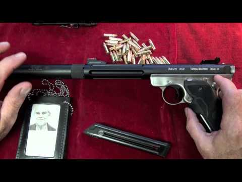 "Ruger Mark III Suppressed with Laser ""Night Shooting"""