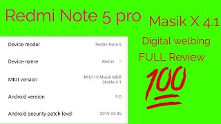 #RREN RREN 81 Masik X 4.1 for Redmi Note 5 pro || Full Review || Digital Welbeing || Hindi