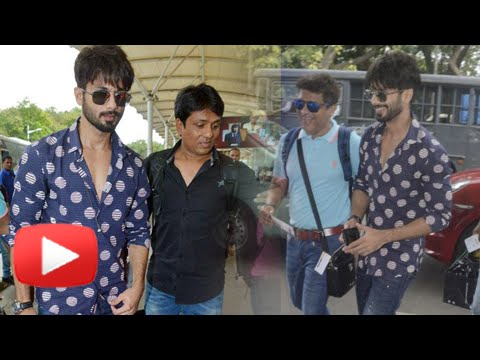 (Video) Shahid Kapoor Leaves For His Wedding