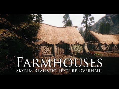 TES V - Skyrim Mods: Skyrim Realistic Texture Overhaul Farmhouses