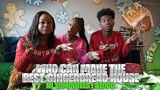 MY FAMILY AND I TRY TO BUILD THE BEST GINGERBREAD HOUSE FOR 1000$