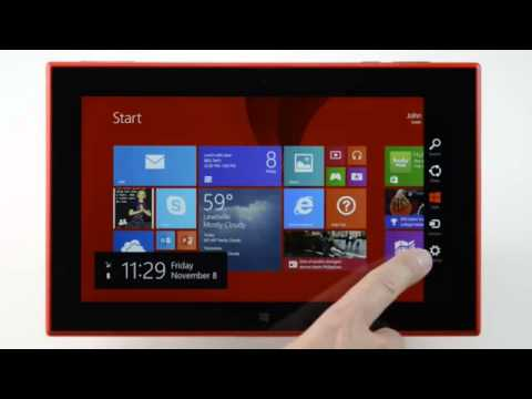 Nokia Lumia 2520  How To Navigate Your Lumia 2520 video