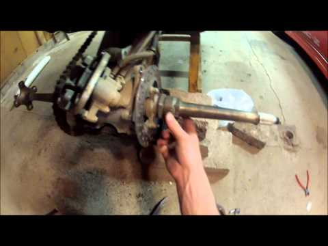 TRX450R Axle removal Tutorial
