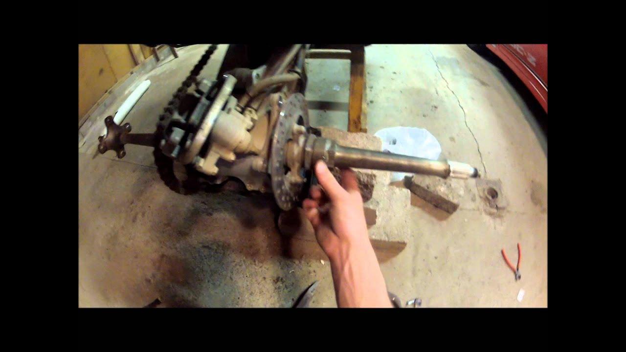 how to change rear brakes on 450 kodiackquad