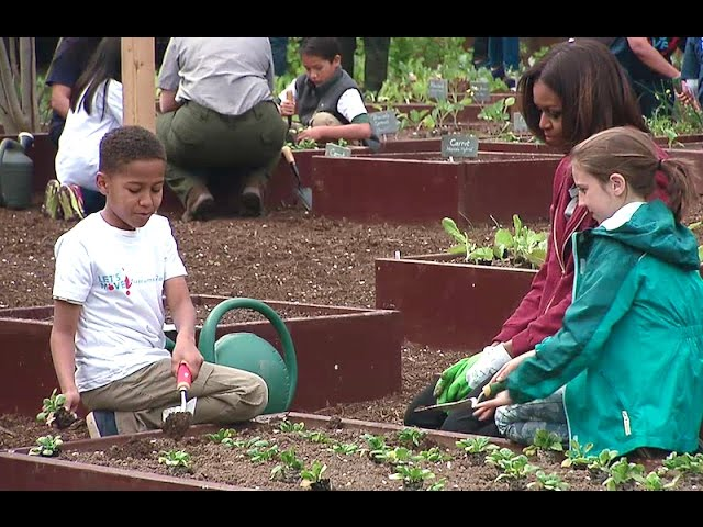 The First Lady Speaks at the White House Kitchen Garden Planting