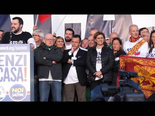 "Renzi a Casa! Matteo Salvini :""Infami Telecomandati da Bruxelles"""