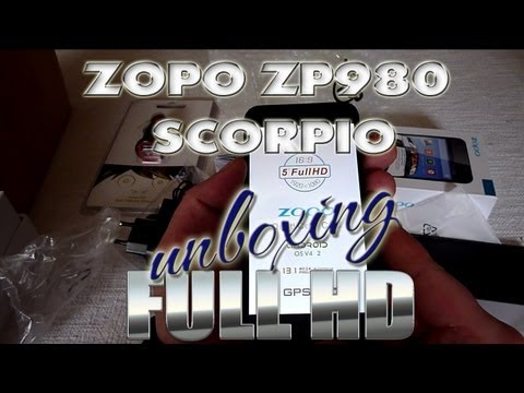 Zopo ZP980 Scorpio Unboxing - MT6589 Quad-Core - FHD Display - Dualsim - Pandawill - ColonelZap