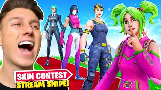 Ich *STREAMSNIPE* einen FORTNITE STREAMER im SKIN CONTEST! 😂