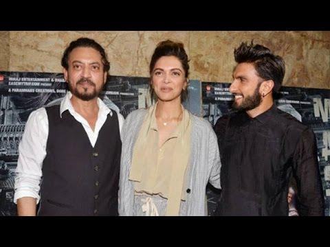 Ranveer Singh & Deepika Padukone At 'Madaari's' Screening   Bollywood News