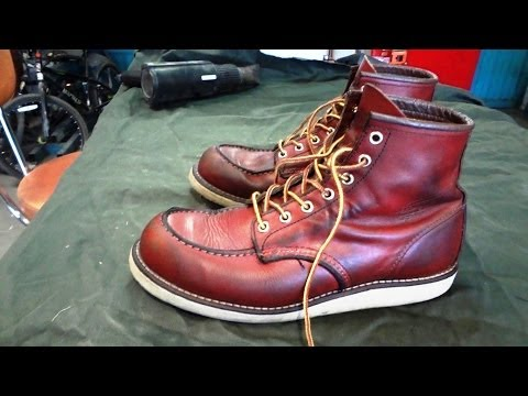 HOW TO CONDITION RED WING LEATHER BOOTS. boot care and moisturizing