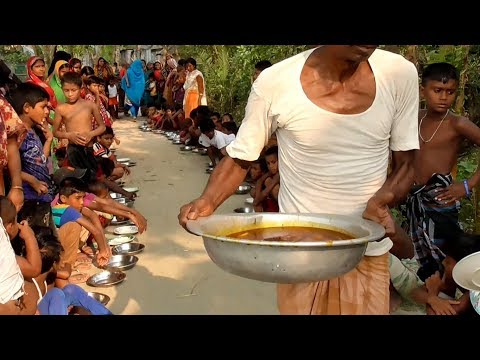 Happy Meal For Happy Peoples - Fish Curry & Lentils Cooking For Water Slide Area Kids & Villagers