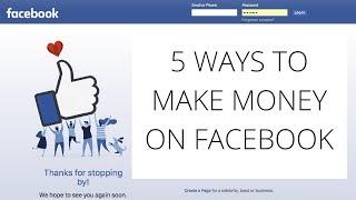 5 Ways to Make Money on Facebook // Gillian Perkins