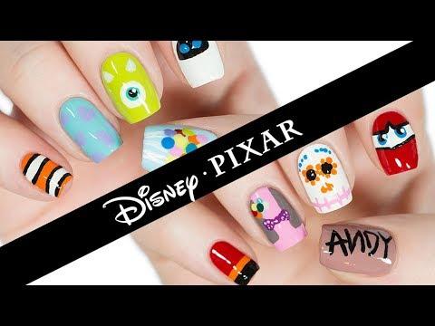 10 Disney Pixar Nail Art Designs: The Ultimate Guide! - YouTube