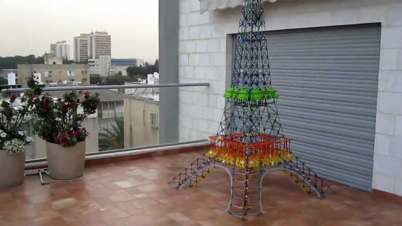the biggest knex eiffel tower youtube