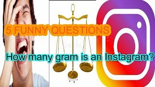 Weight of Instagram    5 New Funny Jokes    Jokes to tell to friends