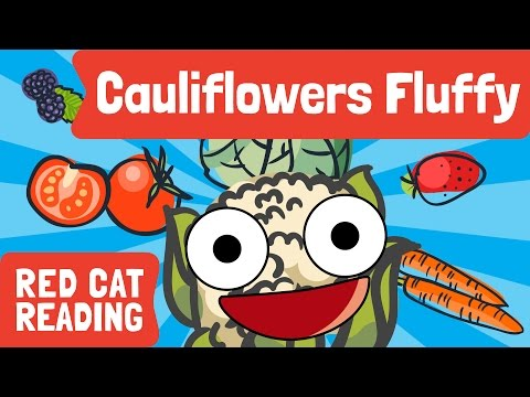 Cauliflowers Fluffy   Paintbox   Vegetable   Harvest   Kids Song   Made by Red Cat Reading