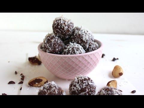 High fat energy brazil nut balls. Paleo and Vegan recipe.