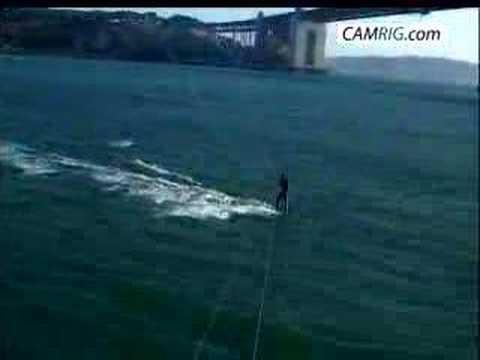 Kitecam shark jumping behind kitesurfer youtube for Sf bay fishing report