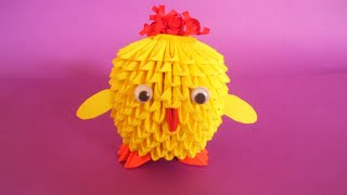 3d Origami Chicken Stop Motion